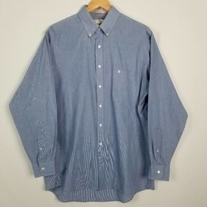 Etienne Aigner Blue Button Down Collar Dress Shirt
